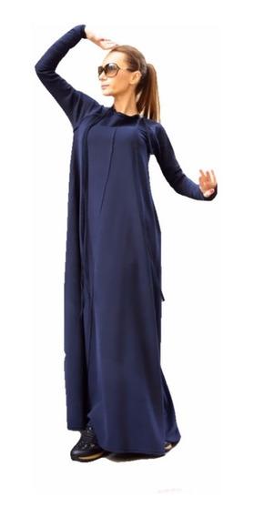 Moderno Vestido Largo Cálido Suave Para Mujer 5127