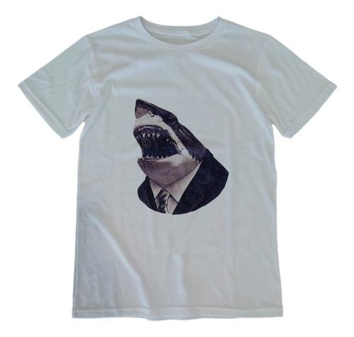 Imagen 1 de 3 de T Shirt Tee King Tiburón Jaws Playera Hombre