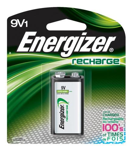 Imagen 1 de 1 de Batería Recargable Energizer 9v 1 Unidad 175mah