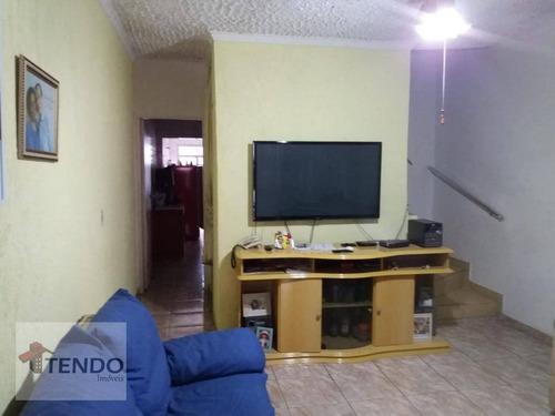 Imagem 1 de 20 de Imob01 - Sobrado 141 M² - Venda - 3 Dormitórios - Jardim - Santo André/sp - So0581
