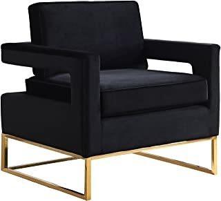 Meridian Furniture 511black Modern | Velv Negro Contemporán