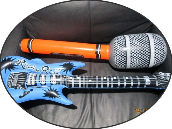 Instrumento Inflable 12 Pza Guitarra Saxo Teclado Microfono