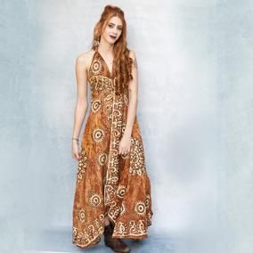 Vestido Longo Bordado Batik Indiano