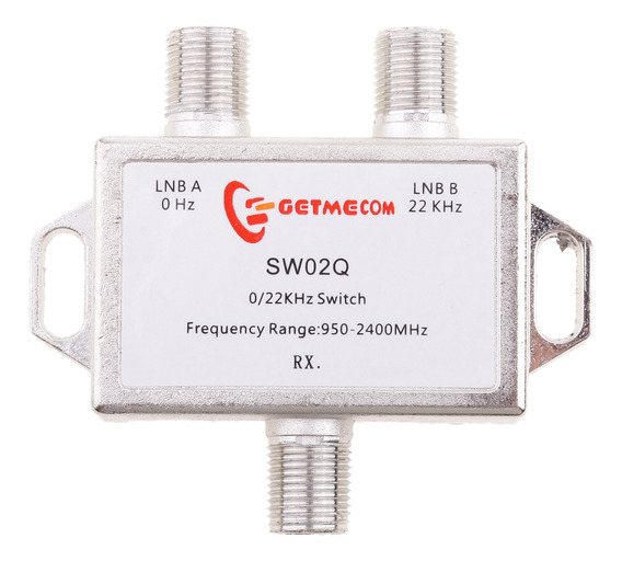 2x1 Diseqc Lnb Tom Satélite Multi Fta Interruptor 0/22khz Ln