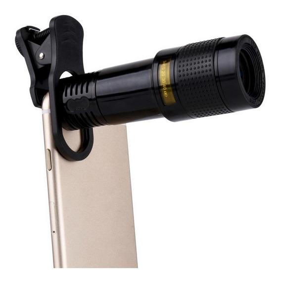 Lente Universal Phone Camera - Preto Preto