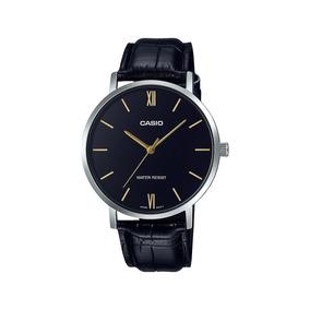 Relógio Casio Classic Preto E Inox Mtp-vt01l-1b Original