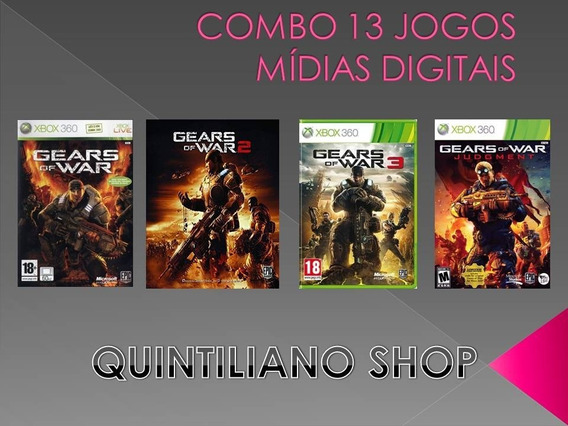 Jogos Xbox 360 Gears Of War Combo Dos Sonhos Mídia Digital