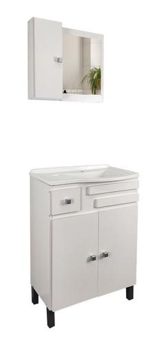 Imagen 1 de 6 de Mueble Para Baño Bacha Pileta + Botiquín Con Puerta Y Espejo