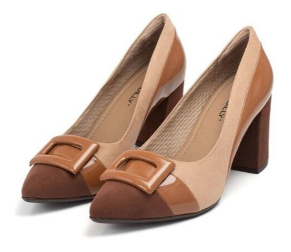 Scarpin Piccadilly Chocolate Fivela 746015-1
