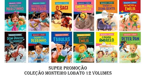 Coleção Monteiro Lobato - Turma Do Sítio C/ 12 Volumes