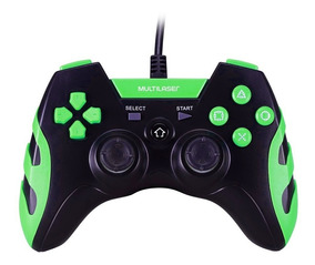 Controle P/ Ps3 Ps2 Pc Multilaser Js081 Warrior Preto/verde