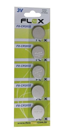 Bateria Flex Cr 2032 (3v) C/ 5 Unidades