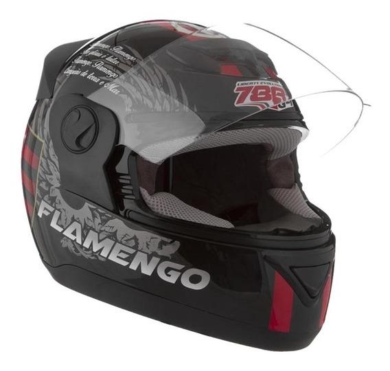 Capacete Fechado Moto Pro Tork Rubro Negro Engate Rápido