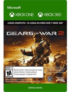 Gears Of War 2 Xbox One Y Xbox 360 Código Digital
