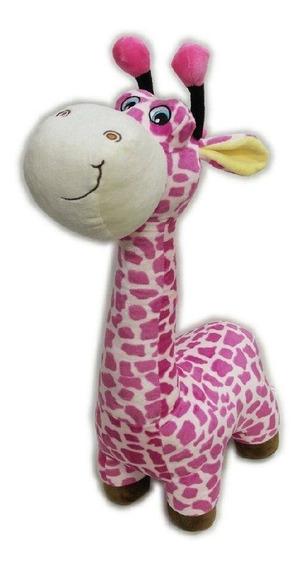 Pelúcia 40 Cm Girafa Colorida Lita Rosa - Pronta Entrega