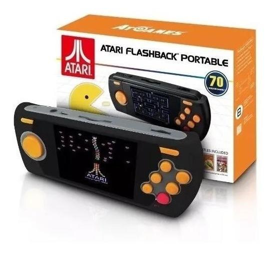 Console Atari Flashback Portátil C/ 70 Jogos Na Memoria