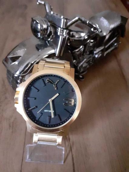 Relógio Masculino Pumaa Grande E Pesado A Prova D