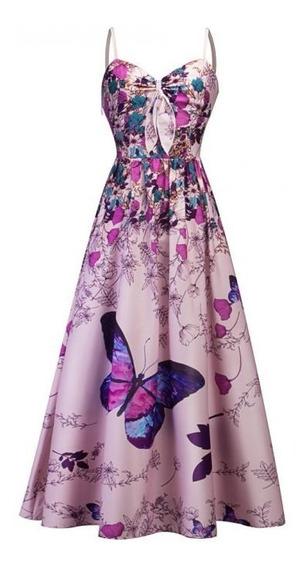Vestido Mujer Mariposa Elegante Fiesta Grado Calidad Casual