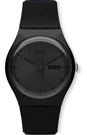 Reloj Swatch Black Rebel Suob702 Unisex Envio Gratis Garantia Oficial