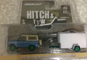 Greenlight Hitch And Tow- Ford Bronco 1967 Green Machine