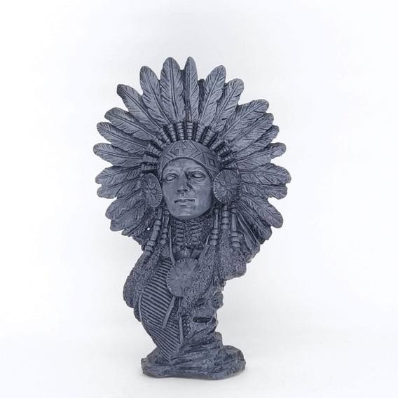 Busto De India Estatua Em Resina 29 Cm