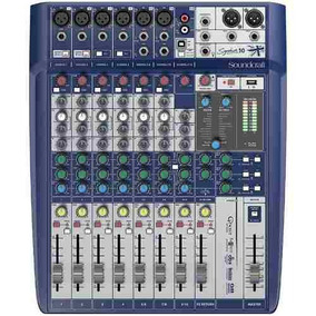 Mesa Som 10 Canais Soundcraft Signature 10 Mixer Analógico