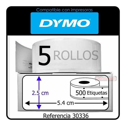 2500 Etiquetas Adhesivas Para Dymo 450 Ref 30336 25mm X54mm