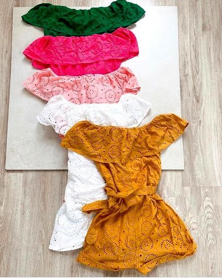 Macacão Macaquinho Feminino Decote Moda Blogueira Verão