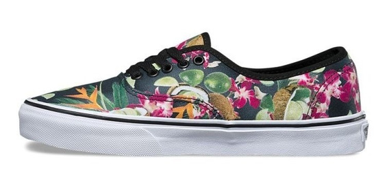 Zapatilla Vans Authentic Mujer Lime In The Coconut Negro