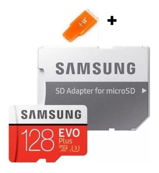 Cartão Samsung 128gb Micro Sd Evo Plus Sdxc U3 4k 100mb/s 1