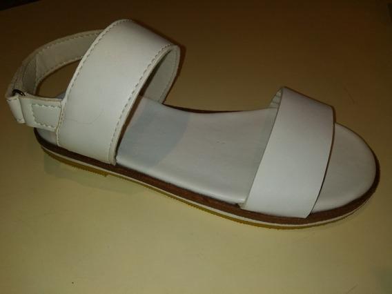 Sandalia De Cuero Blanca