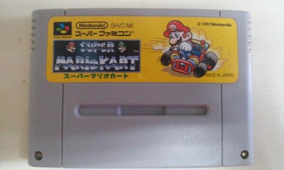 Fita Super Mario Kart Jogo Original Famicom Snes Nintendo