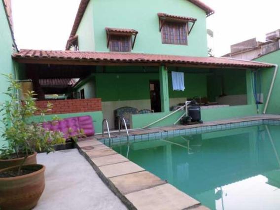 Cerâmica/nova Iguaçu.casa 5 Quartos Sendo 1 Suíte, Quintal C/ Piscina E 4 Vg. Garagem. - Ca00454 - 32690431