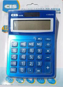 Calculadora De Mesa C- 219 Azul Cis Sertic