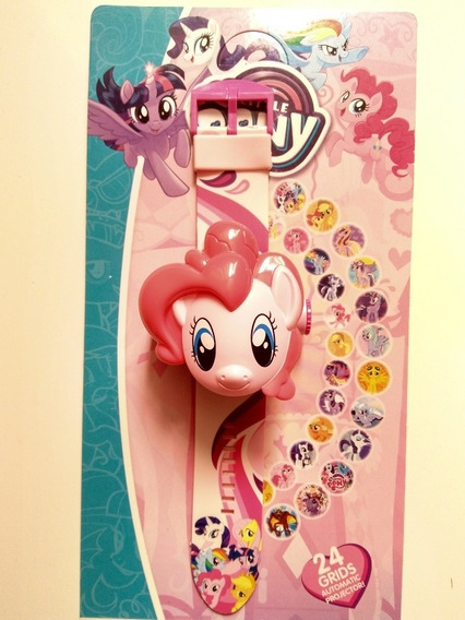 Relógio Digital Infantil Pony Projeta Imagem + Brinde