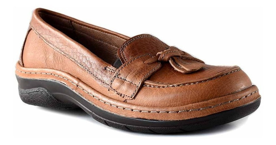 Mocasin Mujer Cuero Briganti Zapato Chatita Goma Mcmo03650