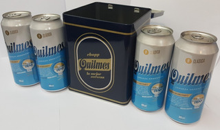 Lata Coleccion Cerveza Quilmes + 4 Latas De 4x473c De Regalo