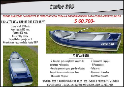 Canobote Caribe 390 Full Somos Fabricantes