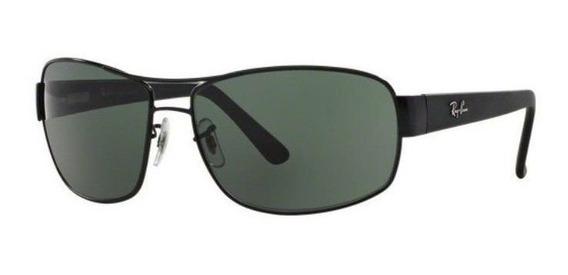 Oculos Sol Ray Ban Rb3503l 006/71 66mm Preto Lente Verde G15