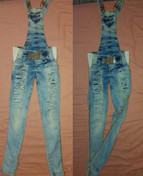 Macacão Jeans Pitbull Jeans Original Tam 38/40