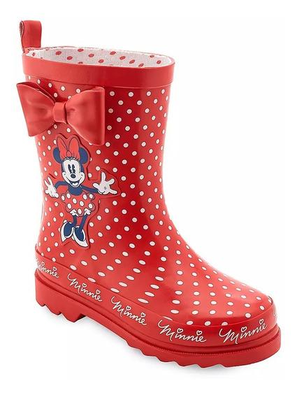 Botas De Lluvia Disney Minnie Mouse Original Disney Talla 29