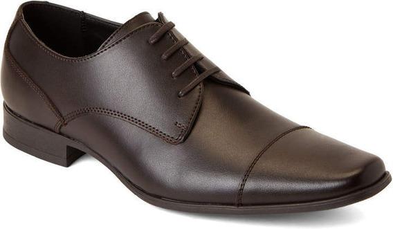 Calvin Klein Zapatos Talla 9.5 Us Bachman Color Cafe Nuevos