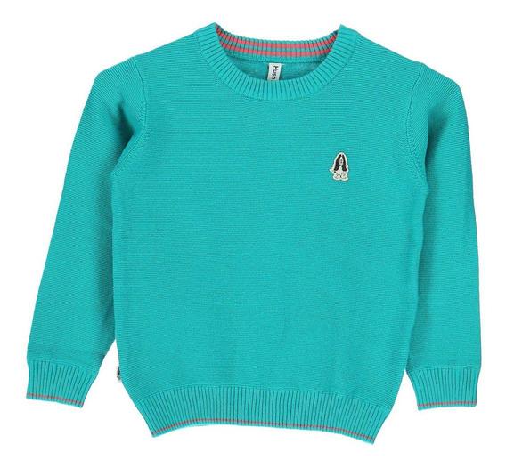 Sweater Algodón Swt/theo Turquesa Hush Puppies Kids