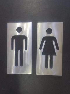 Juego De Señal Para Baños (hombre Y Mujer)
