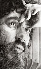 Desenho Realista De Retratos A3 , Quadros, Oleo Sobre Tela