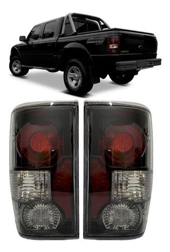 Imagem 1 de 2 de Par Lanterna Ford Ranger 2005 2006 2007 2008 2009 Sport Fume