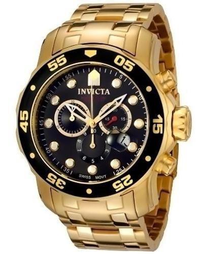 Relógio De Pulso Invicta 0072 Pro Diver Collection- 18 K
