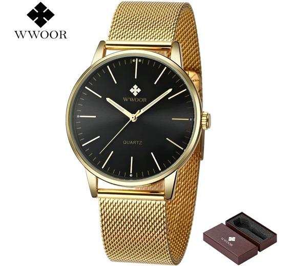Relógio Masculino Ultra Fino De Luxo Original Na Caixa.