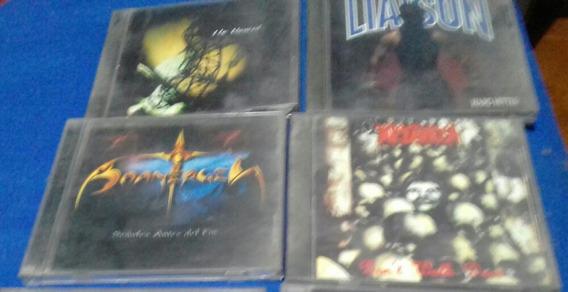 Lote De 4 Cds De Heavy Metal Cristiano