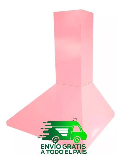 Campana Extractora Cocina Colucci 60 Cm Recta 3 Vel Rosa